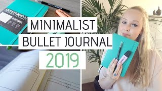 MINIMALIST BULLET JOURNAL SETUP 2019 | Flip Through