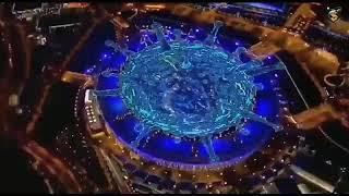 Covid19 representado durante la ceremonia de apertura de los Juegos Olímpicos 2012