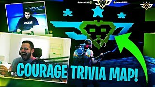 COURAGE'S CUSTOM TRIVIA MAP?! SICKEST THING EVER! (Fortnite: Battle Royale)