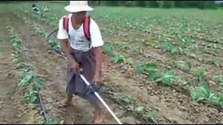 जमीन की जुताई करने वाली विदेशी हैंडी मशीन