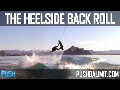 Heelside Back Roll on a Wakeboard (Slow Motion) - PUSH