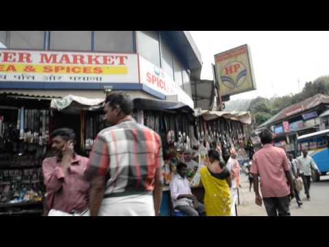 アキーラさん散策④インド・高原都市ムナール市街地Citi center of Munar in India