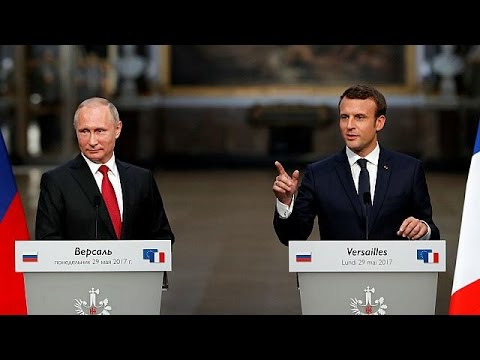 euronews (in English): Macron and Putin vow to work together despite disagreements