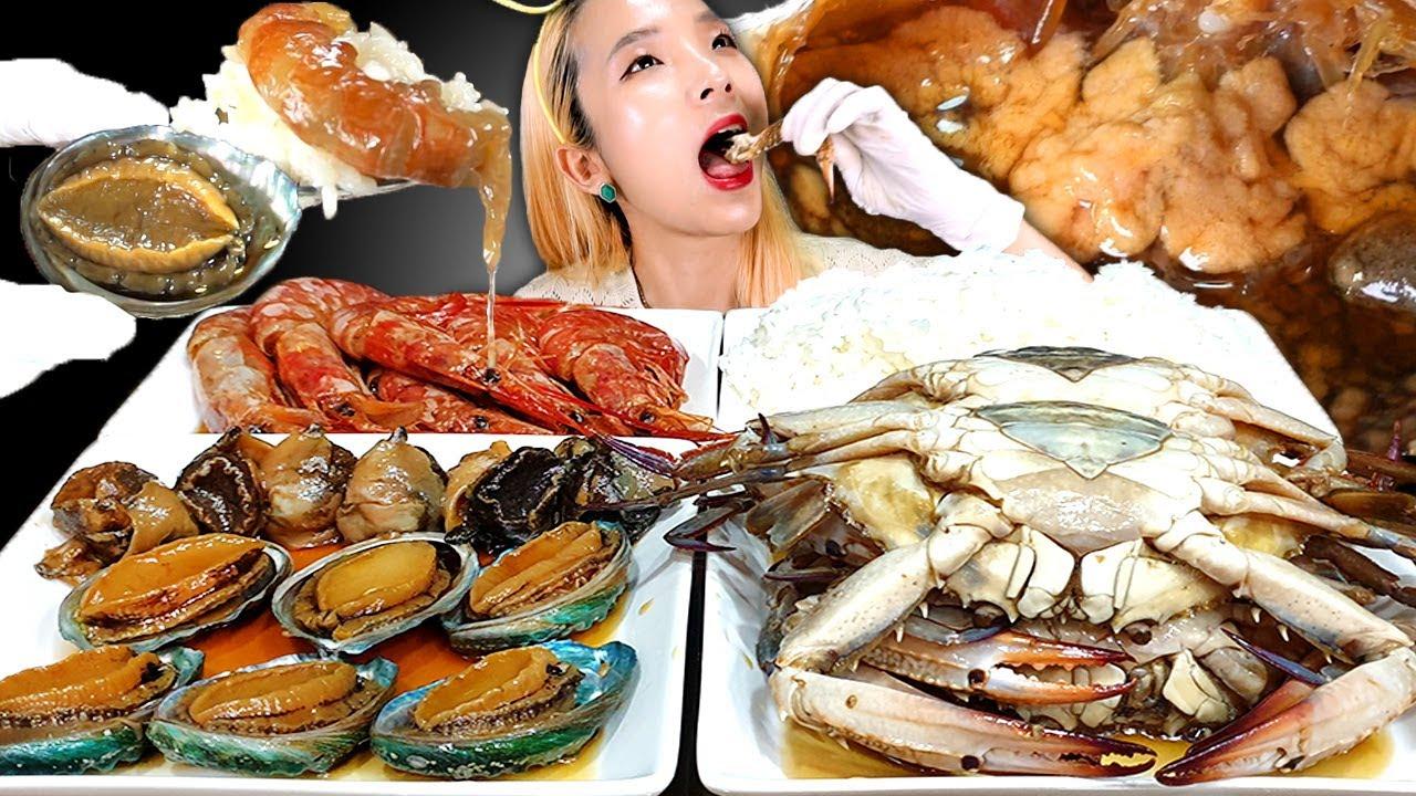 [Mukbang] SOY SAUCE SHRIMP,ABALONE,CONCH 밥도둑 장특집🦀간장게장, 전복장,새우장,소라장 먹방 KOREAN POPULAR FOOD ASMR | 쎄미