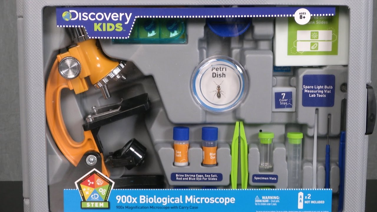 Discovery Kids 900x Biological Microscope From Explore Scientific