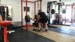Learning how to squat in oly shoes 500 X 8