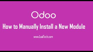 How to manually install a Module in Odoo 8.0 and Odoo 9.0