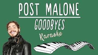 POST MALONE - Goodbyes ft. Young Thug KARAOKE (Piano Instrumental)