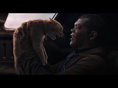 Фьюри и Гуся - Капитан Марвел 2019.