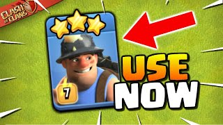 Miners are SO STRONG! Clan War League TH13 3 Stars (Clash of Clans)