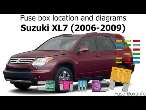 Fuse box location and diagrams: Suzuki XL7 (2006-2009) - YouTubeYouTube