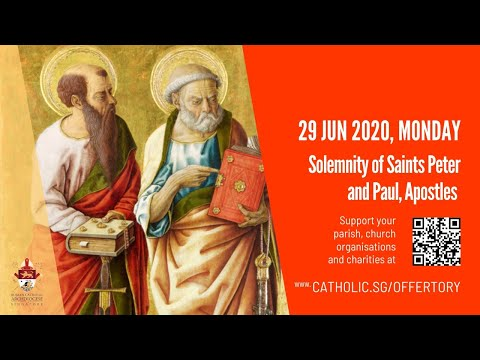 Catholic Weekday Mass Today Online -  Monday, Solemnity of Saints Peter and Paul, Apostles 2020