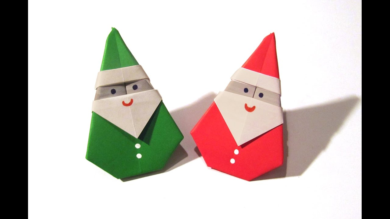 christmas origami santa claus easy origami how to make