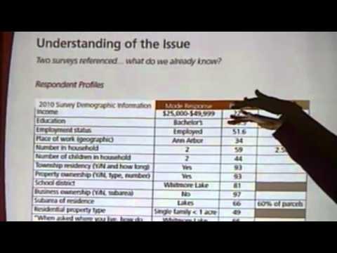 Township Planner Leah DuMouchel's Analysis of 1996 & 2010 Surveys
