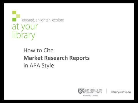 how to cite market research reports in apa style youtube