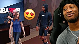 SHE CAME TO THE CRIB LATE NIGHT FOR AN INTERVIEW... - NBA 2K19 MyCAREER