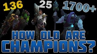 How Old Are Champions According To The Lore?