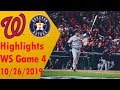 Houston Astros Vs Washington Nationals Highlights - World Series Game 4 - 10/26/2019
