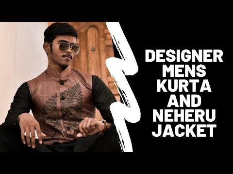 Designer mens kurta with Nehru jacket.Men's look book 2019