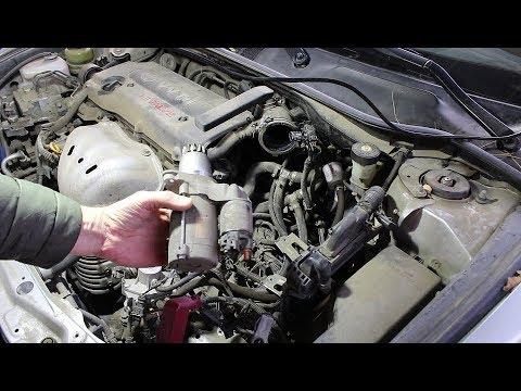 Снятие и установка стартера на Toyota Camry XV40 Тойота Камри 2007 года 2,4
