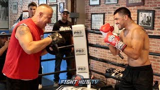 VICTOR ORTIZ LOOKING IN TREMENDOUS SHAPE DURING WORKOUT FOR JOHN MOLINA FIGHT