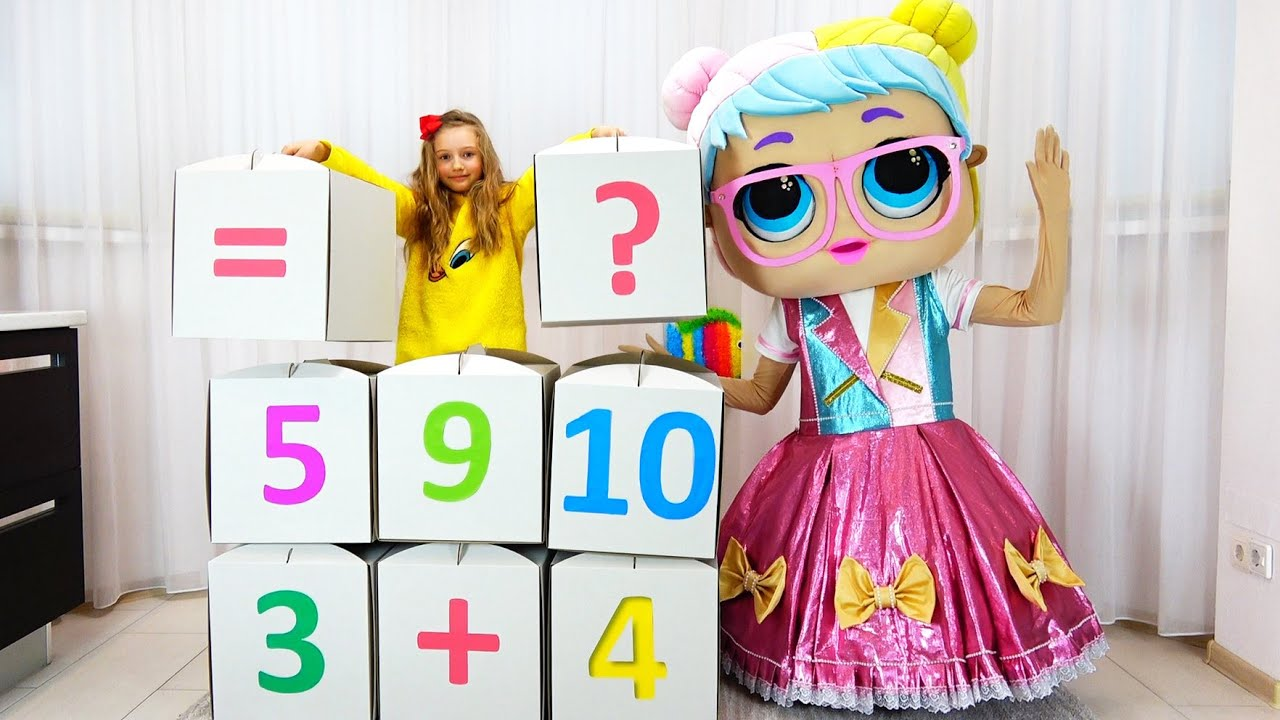 Полина учит математику