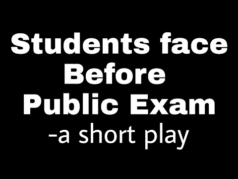 Students face before public Examination!!  A short play!!  | FunWithRaja |