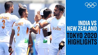 🇮🇳 India beat 🇳🇿 New Zealand in their first match   Men's Hockey   #Tokyo2020 Highlights