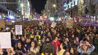 El feminismo vuelve a las calles de Madrid pero con menos fuerza