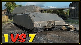 Maus - 11 Kills - 1 VS 7 - World of Tanks Gameplay