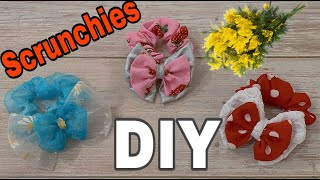 DIY Scrunchies - May Cột Tóc Nơ | @Beauty DIY