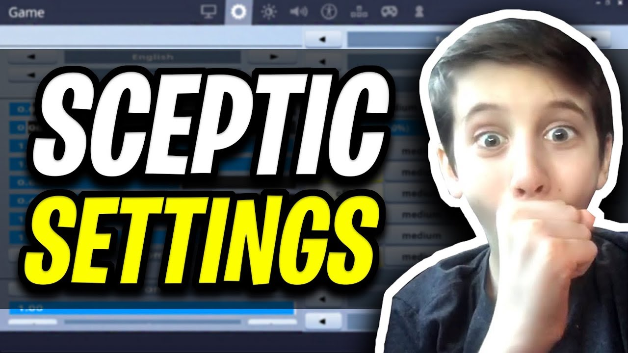Sceptic Fortnite Settings and Keybinds (14 Year Old PRO PLAYER)