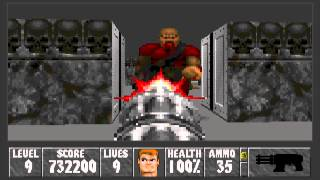 Wolfenstein 3D: WolfenDooM - Mission 1 (Final), Level 9 (Boss Chaingunners)