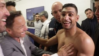 RUMBLE AFTER THE JUNGLE!? JAMIE VARDY DENNIS WISE, JAMIE LOMAS, EMBRACE AMIR KHAN BRUTAL KO WIN