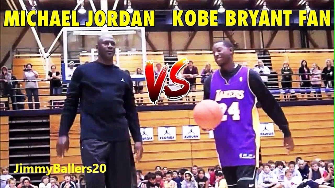 fccfb93d9ecb 51 years old Michael Jordan vs. Kobe Bryant fan - YouTube