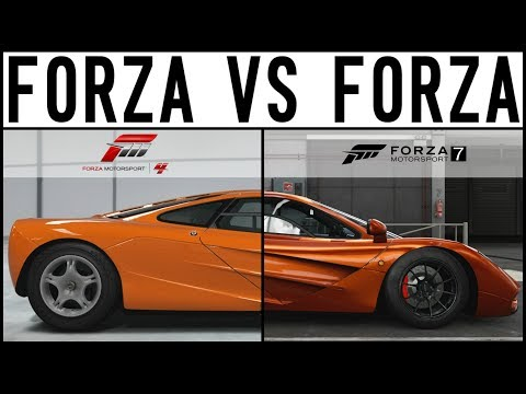 Forza 7 VS Forza 4 - EPIC DRIFT BATTLE - 1000HP Mclaren F1