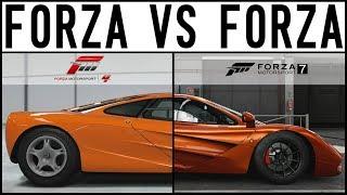 Forza 7 VS Forza 4 - EPIC DRIFT BATTLE - 1000HP Mclaren F1