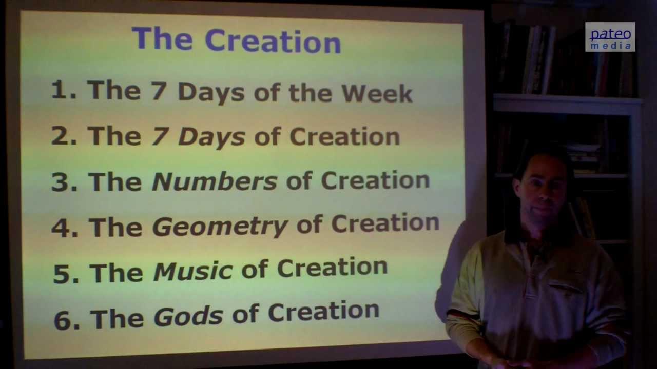 the creation the 7 days of the week 1 6 youtube