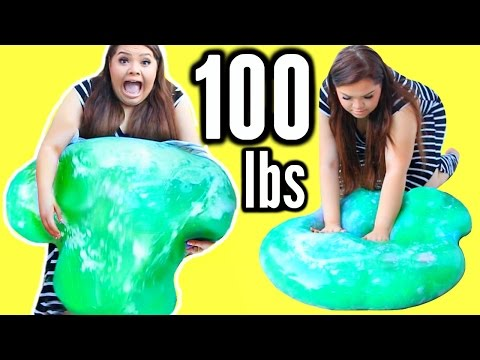 Thumbnail: 100 LBS OF SLIME! DIY Giant 45 Kilo Slime Stress Ball!