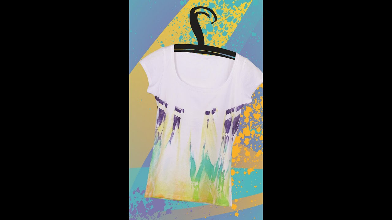 marabu anleitungsvideo abbinden t shirt gestaltet mit marabu fashion design youtube. Black Bedroom Furniture Sets. Home Design Ideas