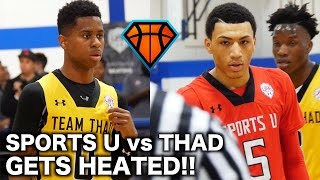 Jahvon Quinerly DOMINATES Crunch Time in the 4th Quarter!! | INTENSE SportsU vs Thad Highlights