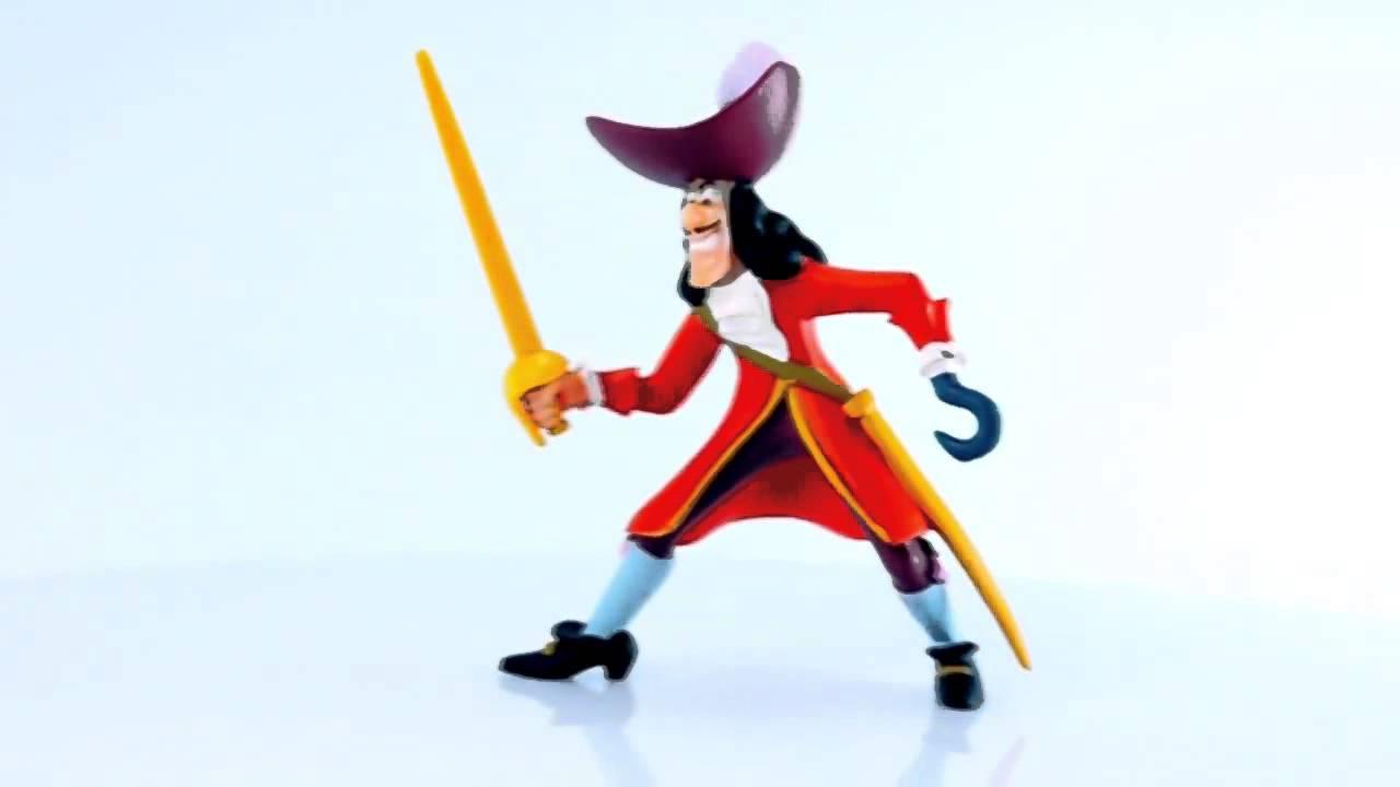 miniatura capitão gancho peter pan disney start omega toys youtube