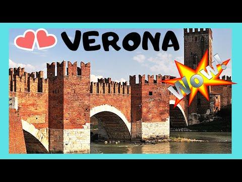 VERONA: the beautiful 14th century CASTELVECCHIO BRIDGE and RIVER ADIGE