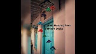 Amazing Ceiling hanging Design-Easy Bamboo sticks craft ideas-DIY Home Decor-cool craft