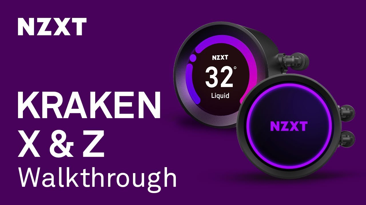 NZXT Kraken X & Z All-In-One Liquid Cooler Walkthrough and Installation
