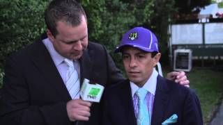 TVG emotional interview with winning Kentucky Derby and Preakness jockey.
