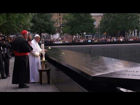 Pope prays at 9/11 site after UN speech