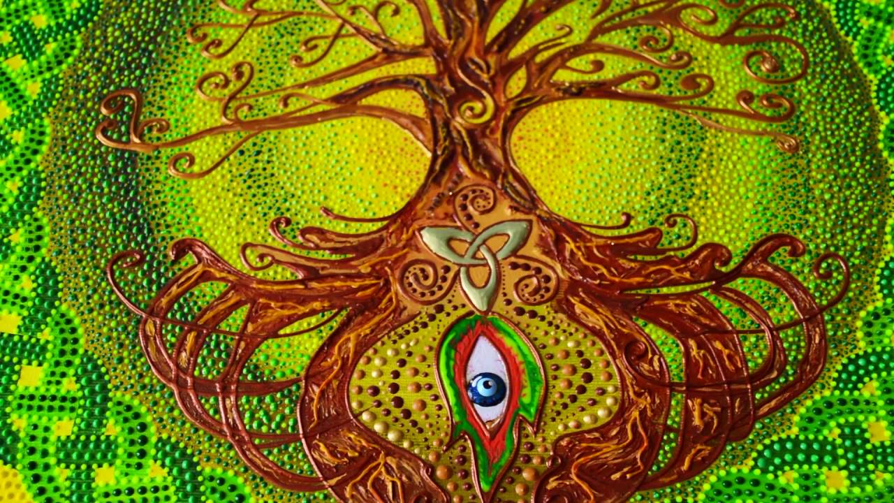 Celtic Tree Of Life Dot Painting Youtube