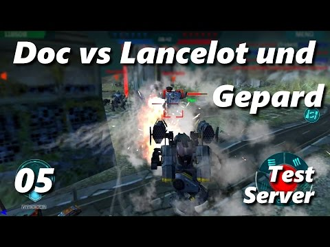 Doc vs Lancelot und Gepard - Testserver 05 - War Robots - (Deutsch / German)