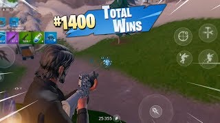 MY 1400th WIN ON MOBILE!! (Fortnite Mobile Battle Royale Gameplay)